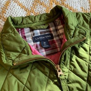 Lands End | Girls Quilted Barn Jacket Size M (5/6)